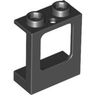 Black Window 1 x 2 x 2 Plane, Single Hole Top and Bottom for Glass  4539128