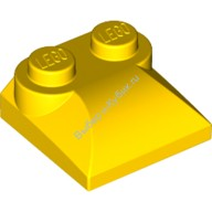 Yellow Brick, Modified 2 x 2 x 2/3 Two Studs, Curved Slope End  4218699