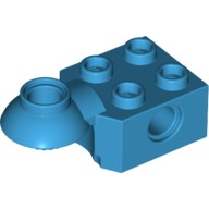 Dark Azure Technic, Brick Modified 2 x 2 with Pin Hole, Rotation Joint Ball Half (Horizontal Top)  6188462