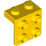Yellow Bracket 1 x 2 - 2 x 2  4199298 or 4277925 or 4615642 or 6117938