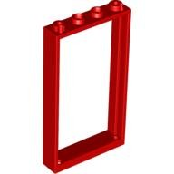 Red Door Frame 1 x 4 x 6 with Two Holes on Top and Bottom  4550015