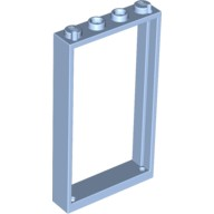 Bright Light Blue Door Frame 1 x 4 x 6 with Two Holes on Top and Bottom  6099508