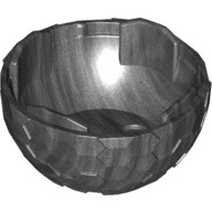 Pearl Dark Gray Container, Faceted 4 x 4 x 1 2/3, Alien Pod Section  6163088